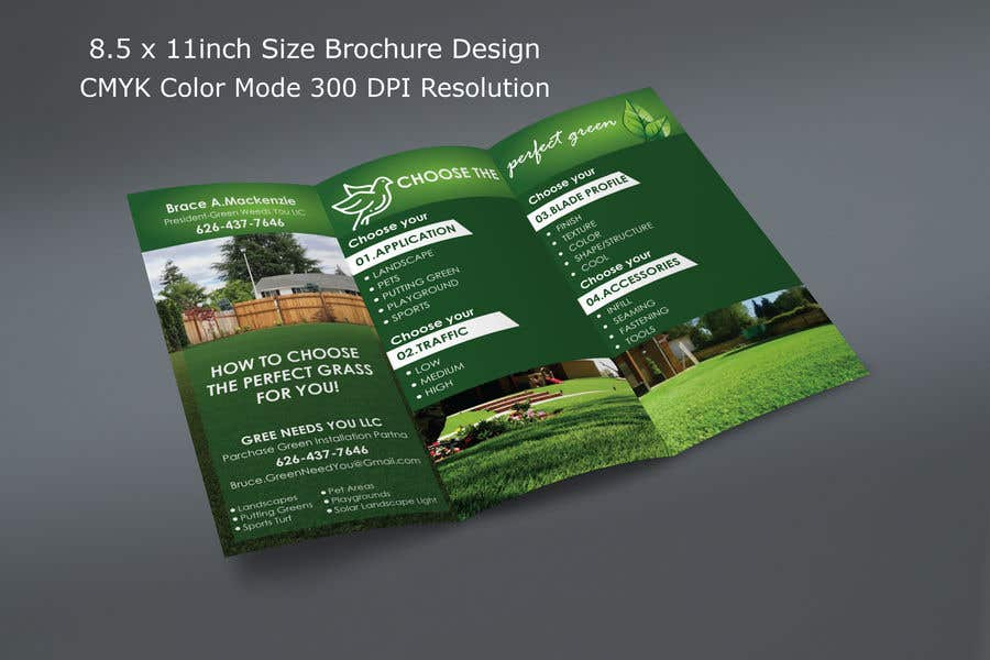 Kilpailutyö #7 kilpailussa Needs a brochure for a fake grass company