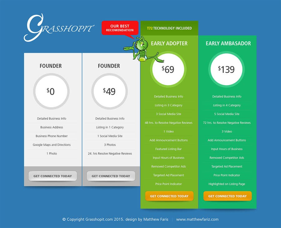 Penyertaan Peraduan #                                        8                                      untuk                                         I need A new Pricing Table done and Delivered in PSD