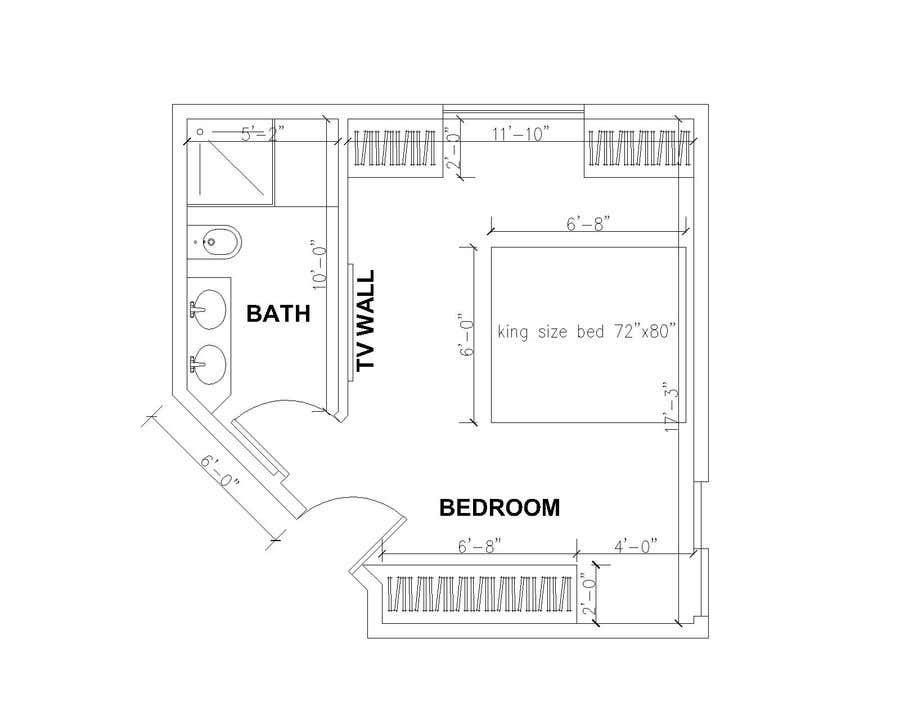 Konkurrenceindlæg #12 for Master bedroom reconfiguration to add ensuite