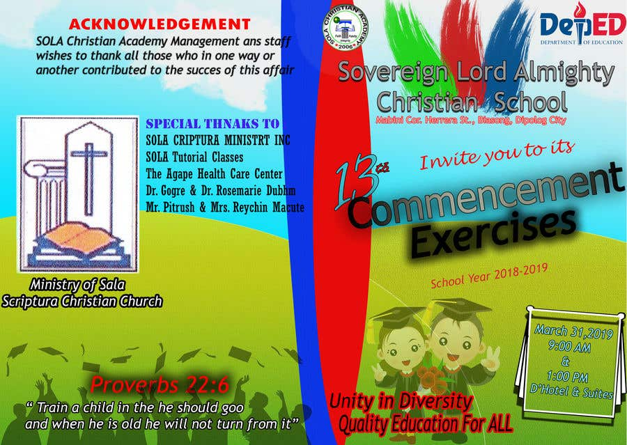 Contest Entry #31 for commencement exercises
