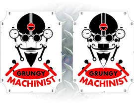 nº 54 pour Grungy Machinist Logo par BrilliantLight