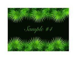 #12 para Design a palm tree/banana leaf pattern I can use for my product por imagencreativajp