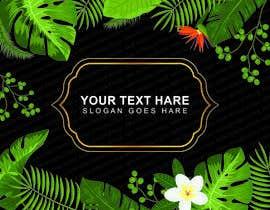 #25 para Design a palm tree/banana leaf pattern I can use for my product por dsprincesof