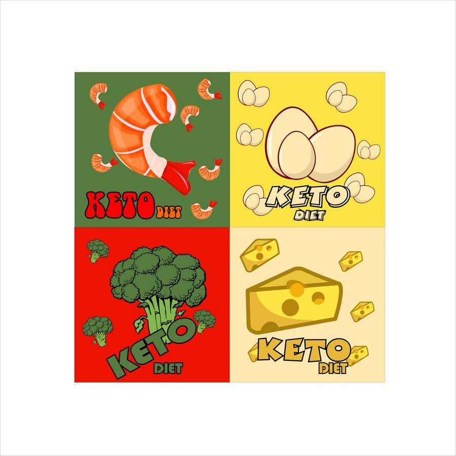 Конкурсная заявка №4 для Pack of 10 Keto Diet Themed Stickers