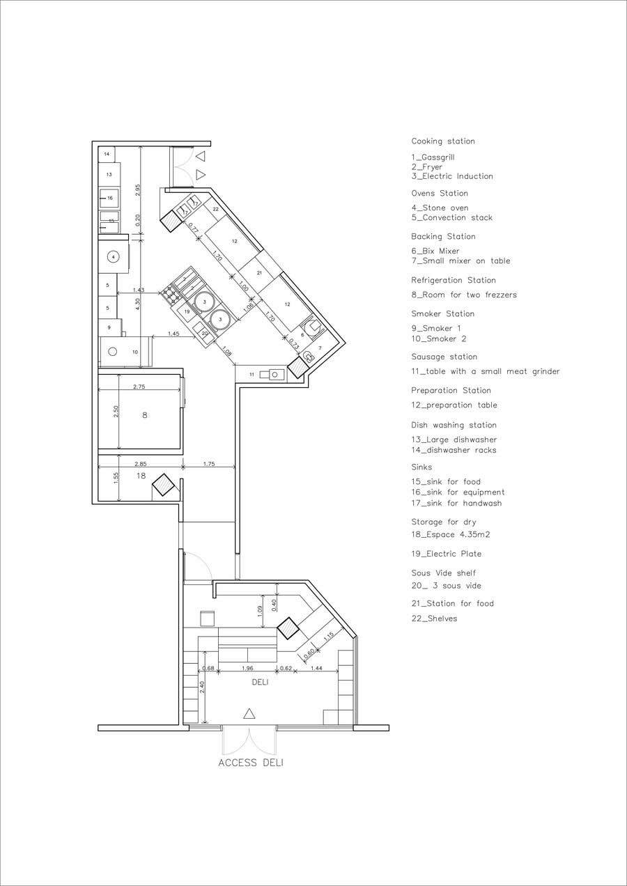 Inscrição nº 11 do Concurso para Kitchen and deli floor plan
