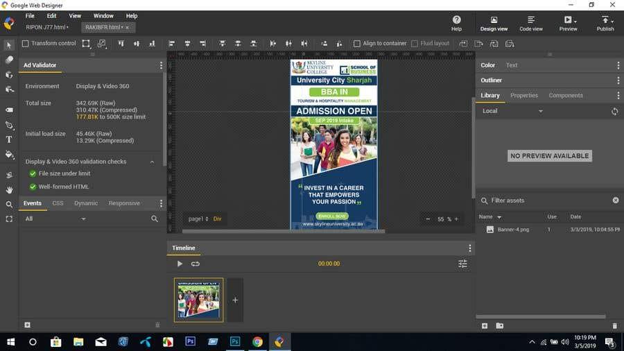 Entry 16 By Riponjoarddar345 For Google Web Designer Html5 Ad Banner Freelancer