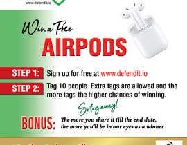 Nro 9 kilpailuun Promotional banner for giveaway käyttäjältä reggydesign