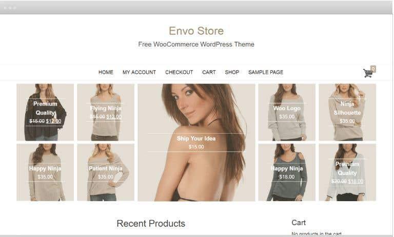 Kilpailutyö #3 kilpailussa Code a custom Shopify site