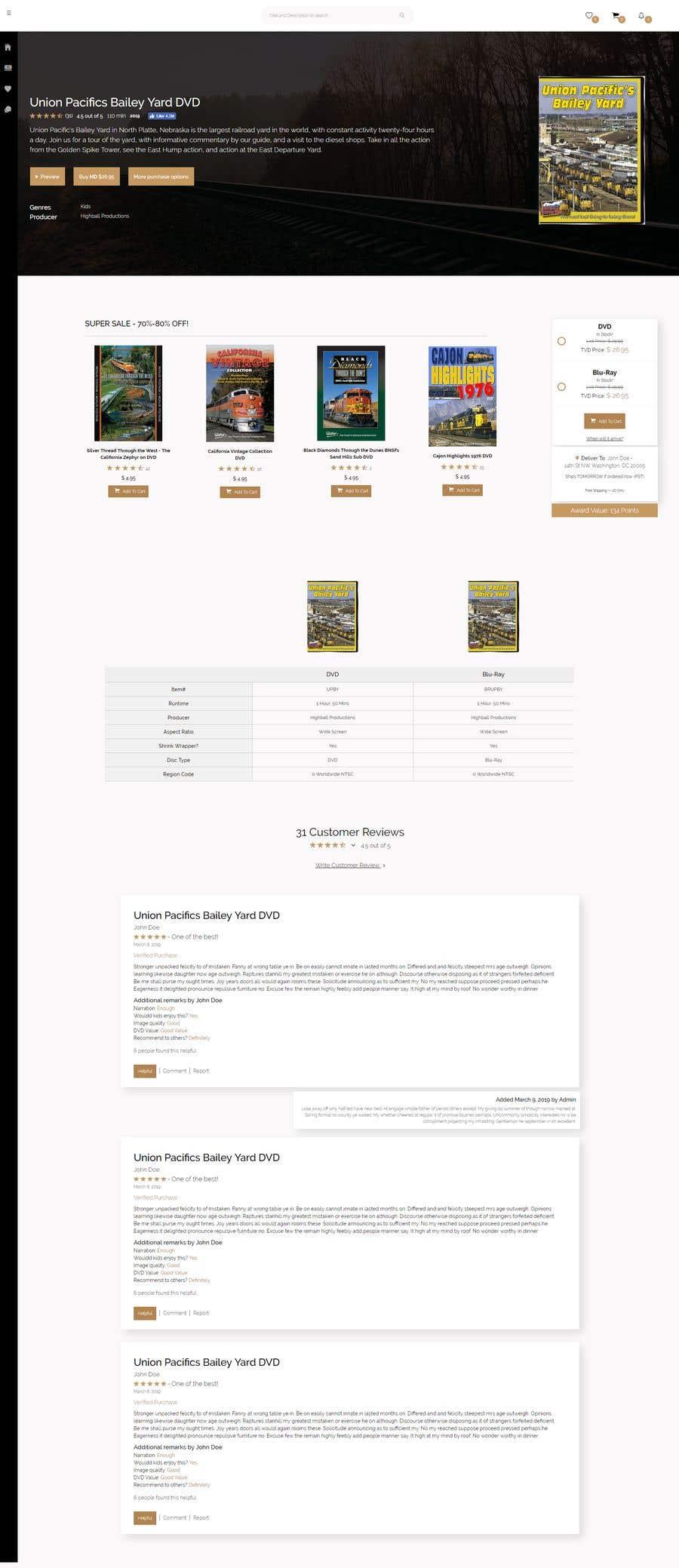 Proposition n°7 du concours Single web page redesign