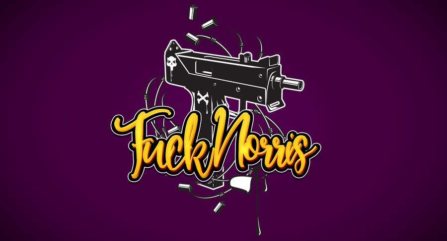 """Konkurrenceindlæg #2 for The Character name is """"Fuck Norris"""". A spoof on the actor Chuck Norris. I need someone to incorporate Martial Arts and Machine Guns into the Name """"Fuck Norris"""". Thank you for your entries."""
