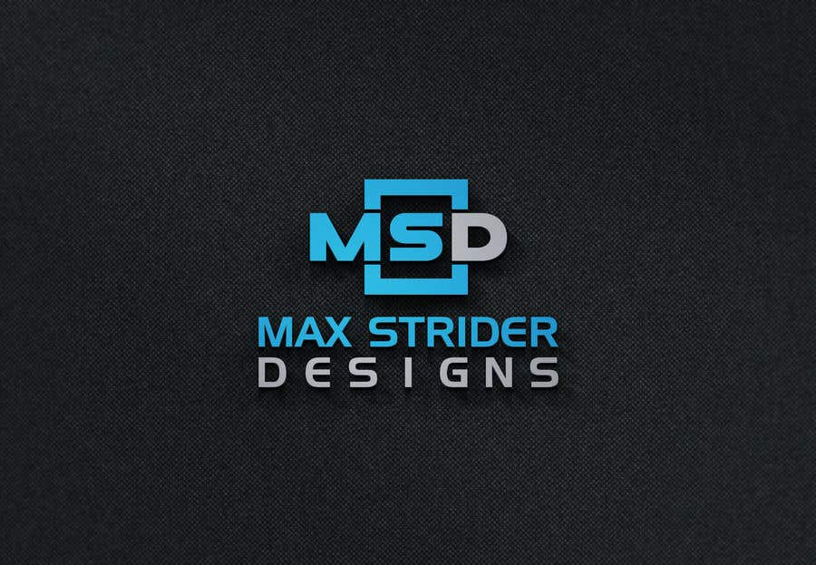 Конкурсная заявка №5 для I require a logo designed for a company called Max Strider Designs. We produce high end hand crafted products. Vector png and JPEG formats. Thank you.