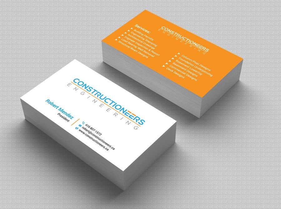 Kilpailutyö #110 kilpailussa Business Card Design for a Residential Engineering Company