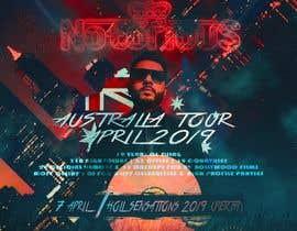 Nro 21 kilpailuun DJ Australia Tour Poster käyttäjältä Mina1329