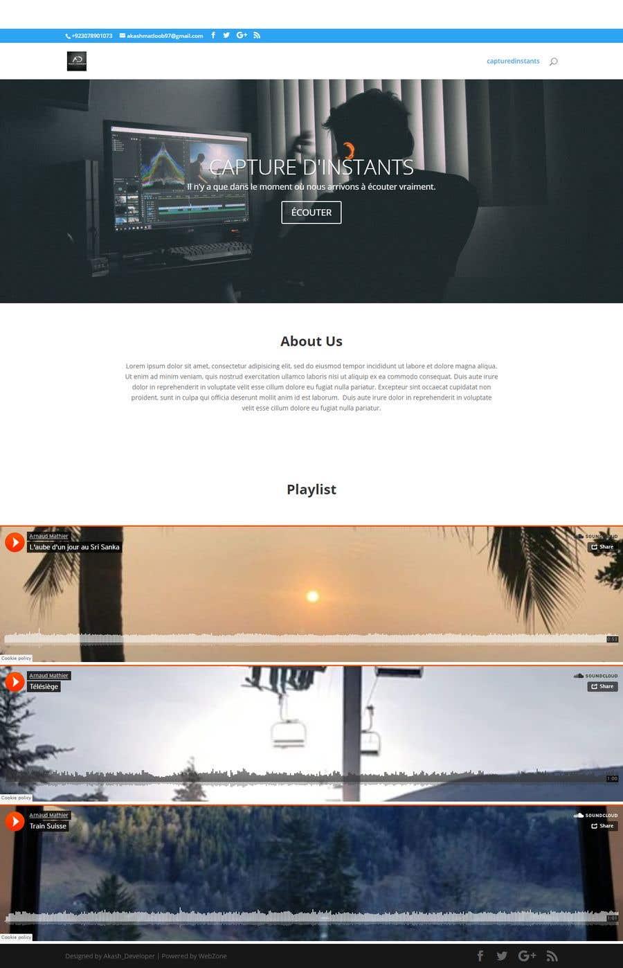 Proposition n°                                        1                                      du concours                                         Design & setup site web