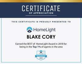 #11 untuk Award Certificate - 10/03/2019 13:38 EDT oleh petersamajay