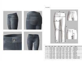 #13 untuk Tech pack for my unique, sexy line of men & women's jeans & athleisure oleh ecemozkurt