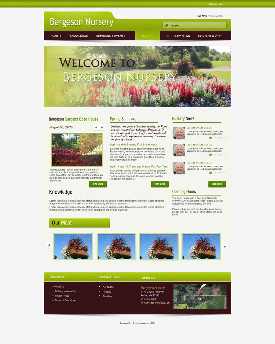 #18 for Design Inspiration for Bergeson Nursery Website by NierSolutions