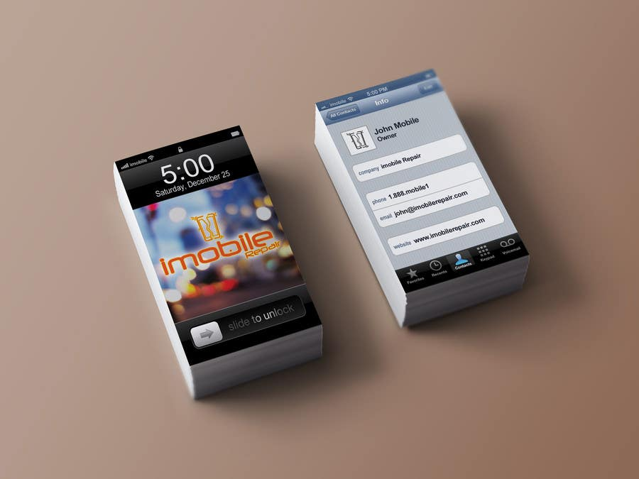 Contest Entry 14 For Design Some Business Cards Smartphone Repair Services