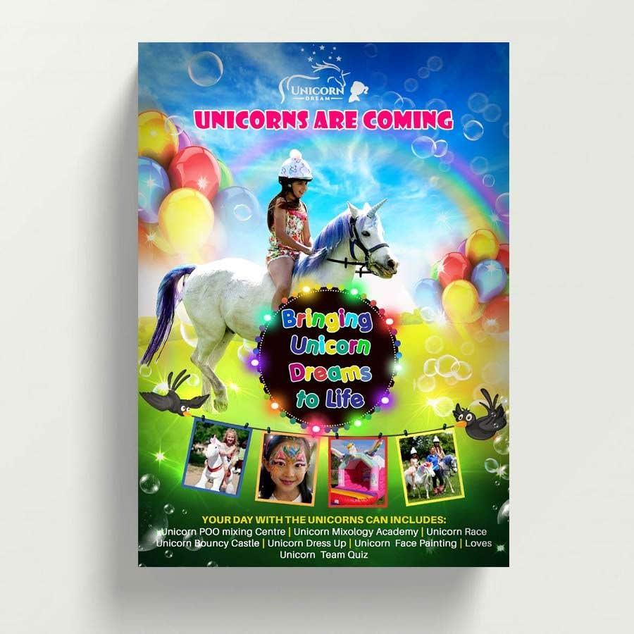 Proposition n°218 du concours Flyer Design Kinds Unicorn Event