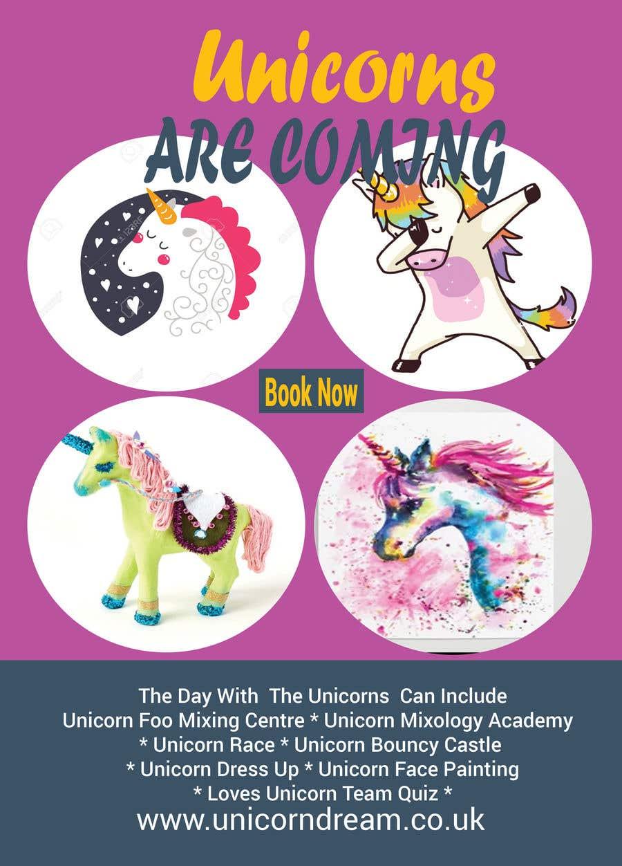 Proposition n°202 du concours Flyer Design Kinds Unicorn Event