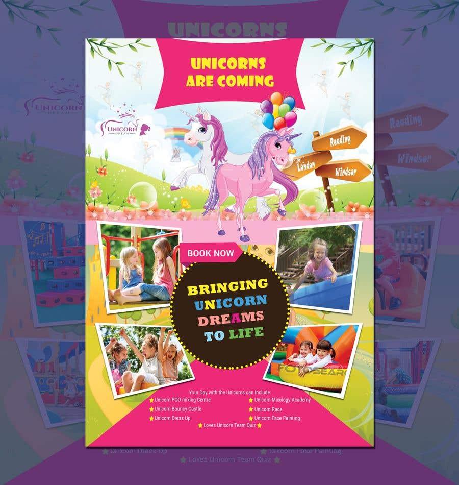 Proposition n°208 du concours Flyer Design Kinds Unicorn Event