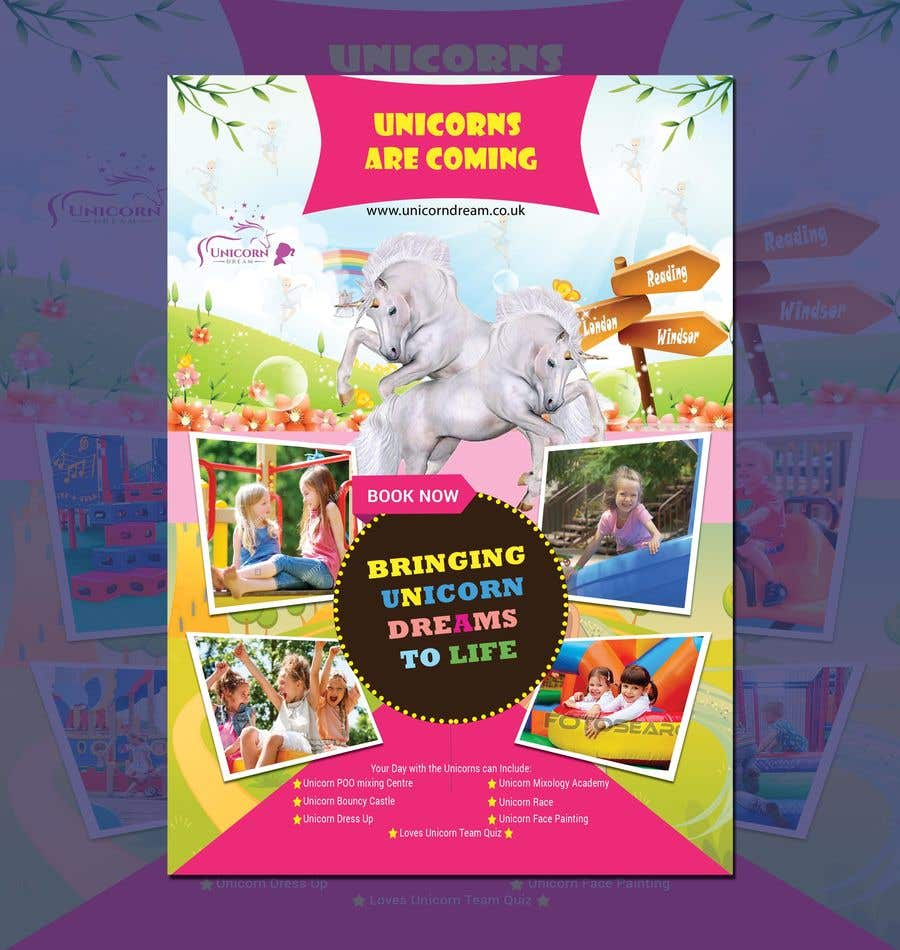 Proposition n°250 du concours Flyer Design Kinds Unicorn Event