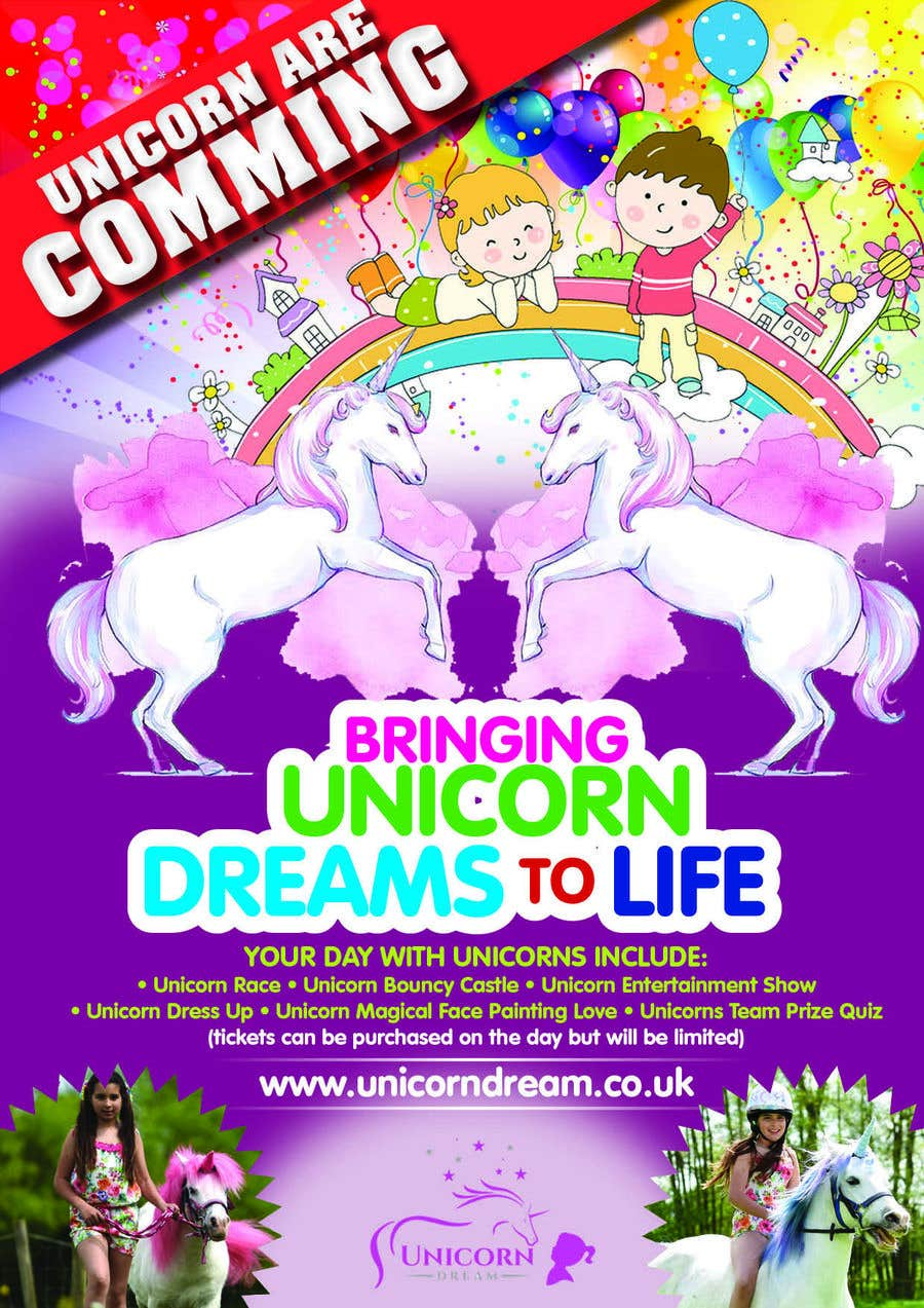 Proposition n°188 du concours Flyer Design Kinds Unicorn Event