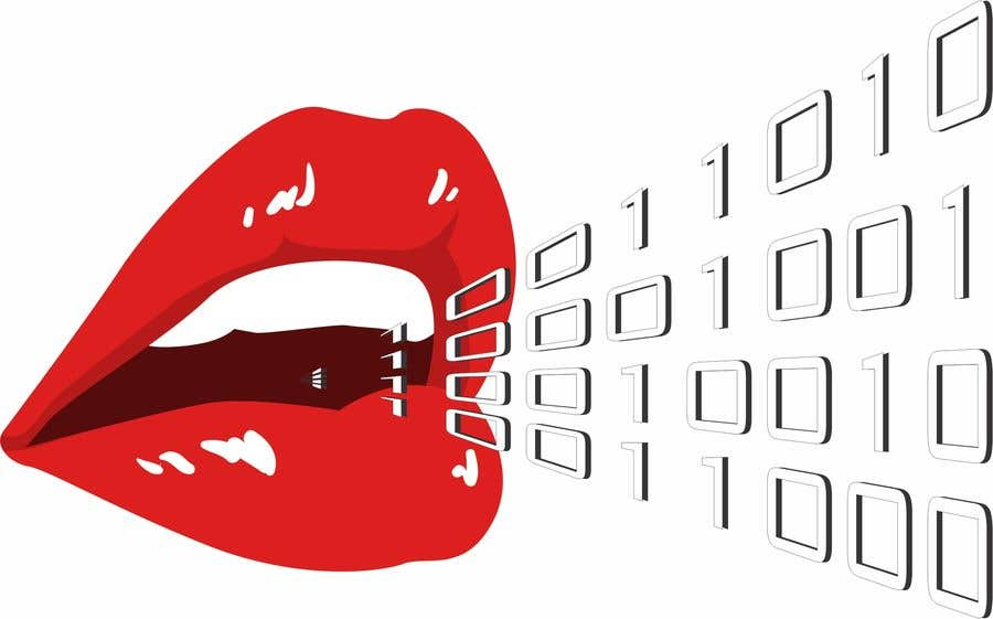 Konkurrenceindlæg #103 for Create a Logo of lips speaking binary code that follows the Golden Ratio
