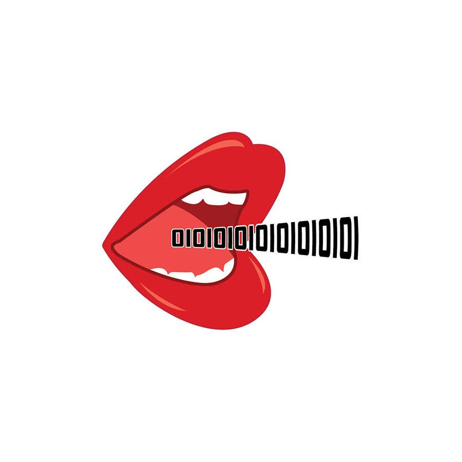 Konkurrenceindlæg #102 for Create a Logo of lips speaking binary code that follows the Golden Ratio