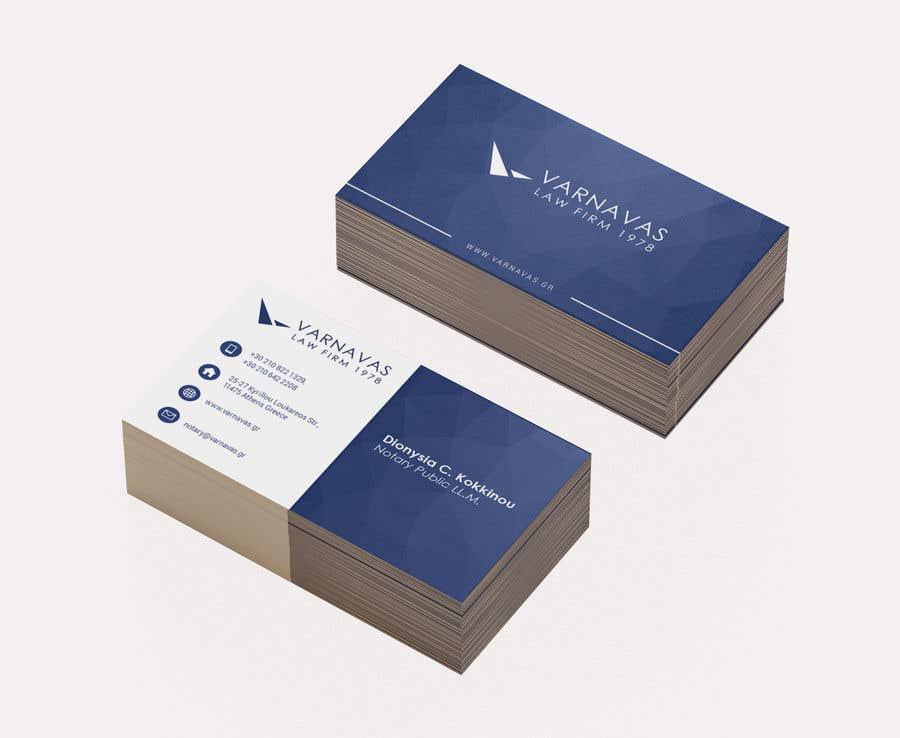 Penyertaan Peraduan #535 untuk Design new business cards for law firm