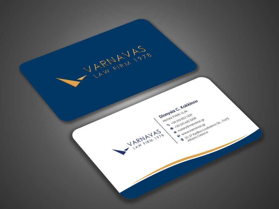 Penyertaan Peraduan #586 untuk Design new business cards for law firm