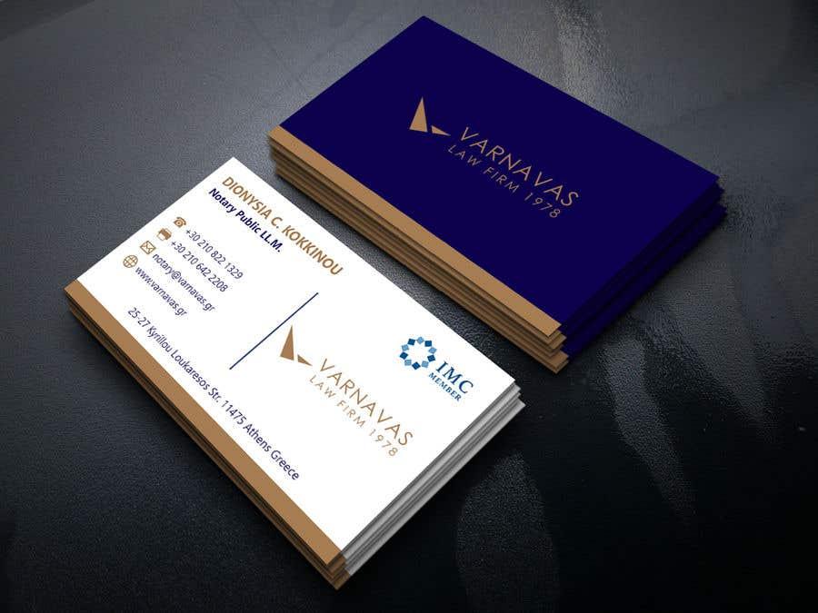 Penyertaan Peraduan #578 untuk Design new business cards for law firm
