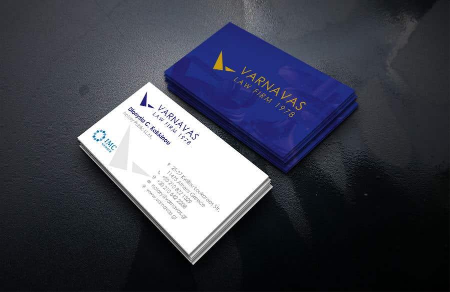Penyertaan Peraduan #144 untuk Design new business cards for law firm