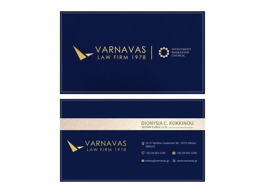 Penyertaan Peraduan #680 untuk Design new business cards for law firm