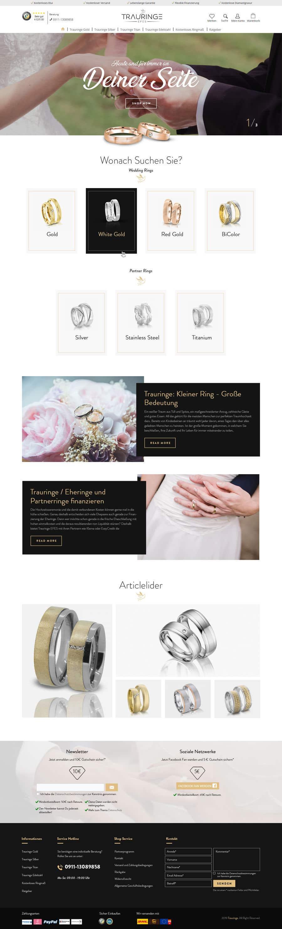 Konkurrenceindlæg #11 for Design Landingpage for Wedding Onlineshop