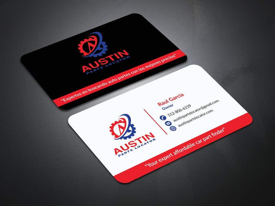 Proposition n°105 du concours Design Business Cards For Car Parts Company
