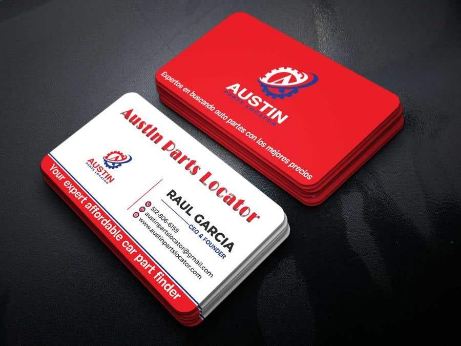 Proposition n°253 du concours Design Business Cards For Car Parts Company