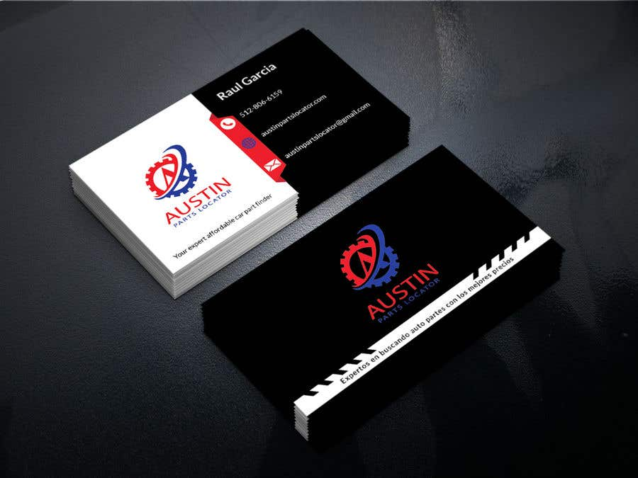 Proposition n°124 du concours Design Business Cards For Car Parts Company