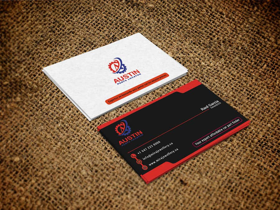 Proposition n°229 du concours Design Business Cards For Car Parts Company