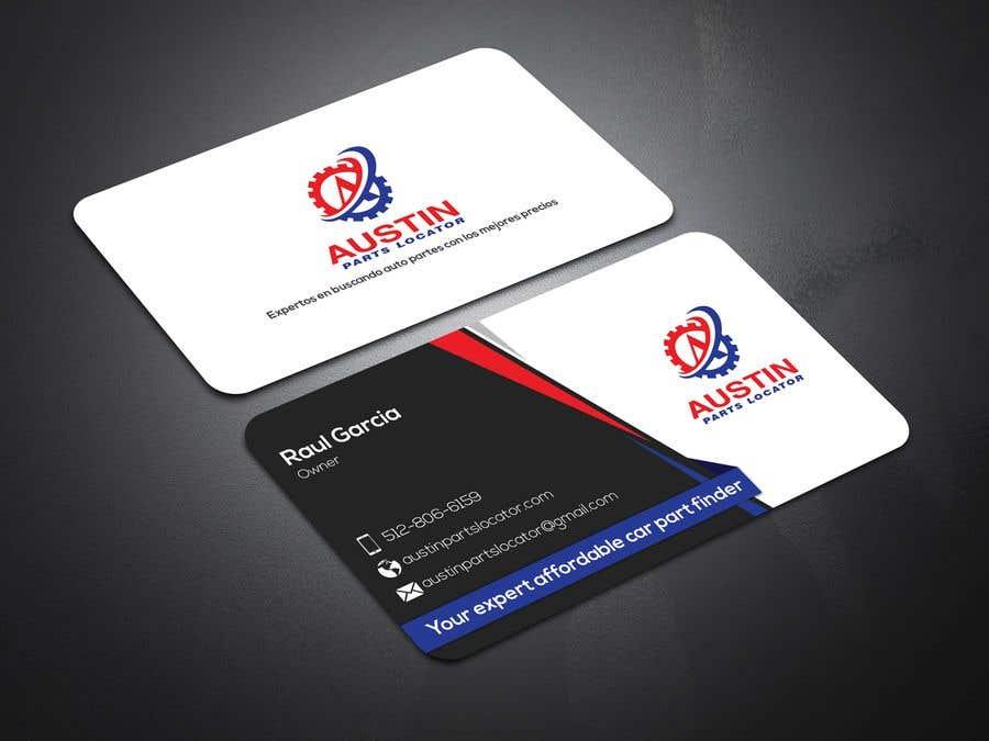 Proposition n°311 du concours Design Business Cards For Car Parts Company