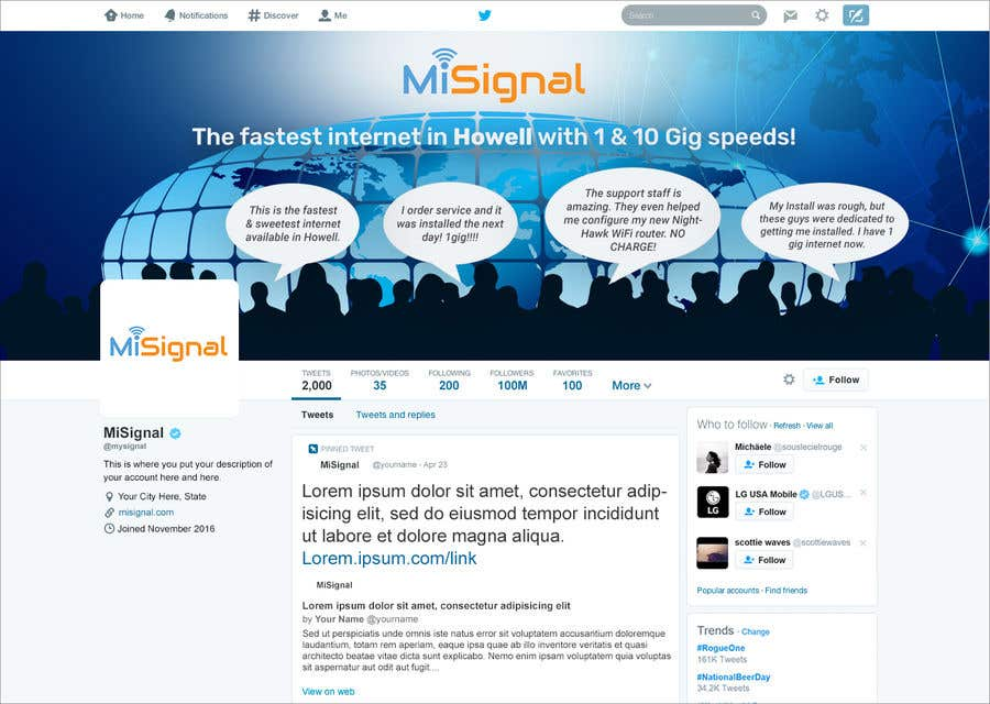 Kilpailutyö #24 kilpailussa Twitter Background IMage