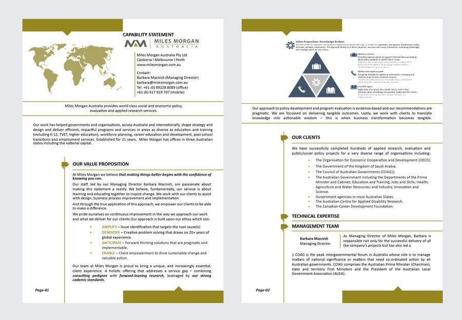 Contest Entry #22 for Design of Capability Statement