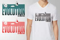 Graphic Design Entri Peraduan #35 for Illustration for T-Shirt: Evolution of a Poker Player (From Whale to Shark to Poker Player Using a Different Animals)