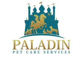 #42 for logo for Paladin Pet Care Services. A Pet Sitting & Dog Walking business. Would like a female knight riding a horse to feature. Must also include a dog, a cat & other pets. Looking for a unique, sophisticated logo with a royal flavour. by flyhy