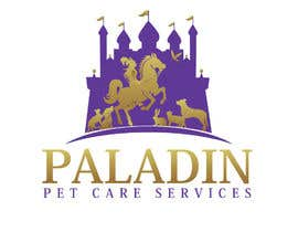 #55 for logo for Paladin Pet Care Services. A Pet Sitting & Dog Walking business. Would like a female knight riding a horse to feature. Must also include a dog, a cat & other pets. Looking for a unique, sophisticated logo with a royal flavour. by flyhy