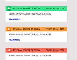 #9 untuk Redesign an Announcement List Layout oleh BParvatkar