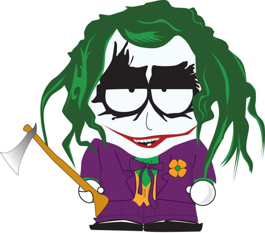 Kilpailutyö #17 kilpailussa The Joker (Batman's Villain) In Adobe Illustrator