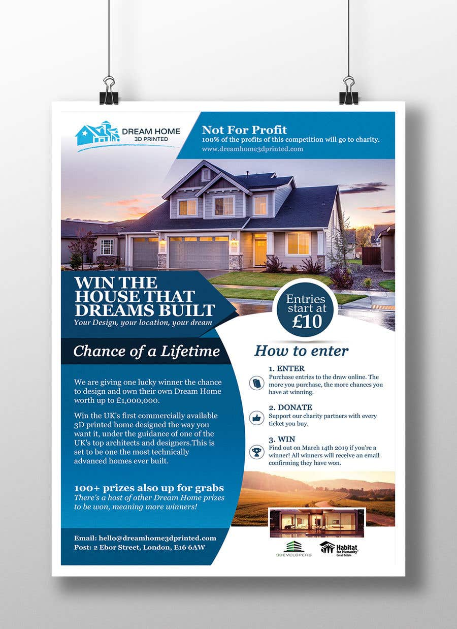 Entry #128 by Hasan628 for Flyer Design for Dream Home House