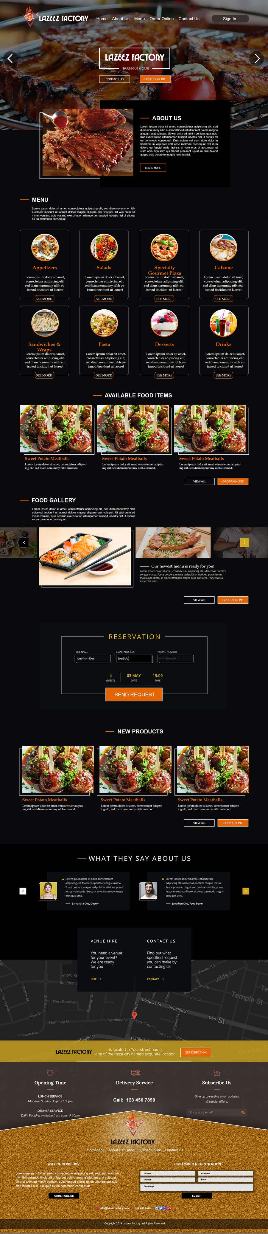 Konkurrenceindlæg #98 for Design A Website and Logo For Restaurant