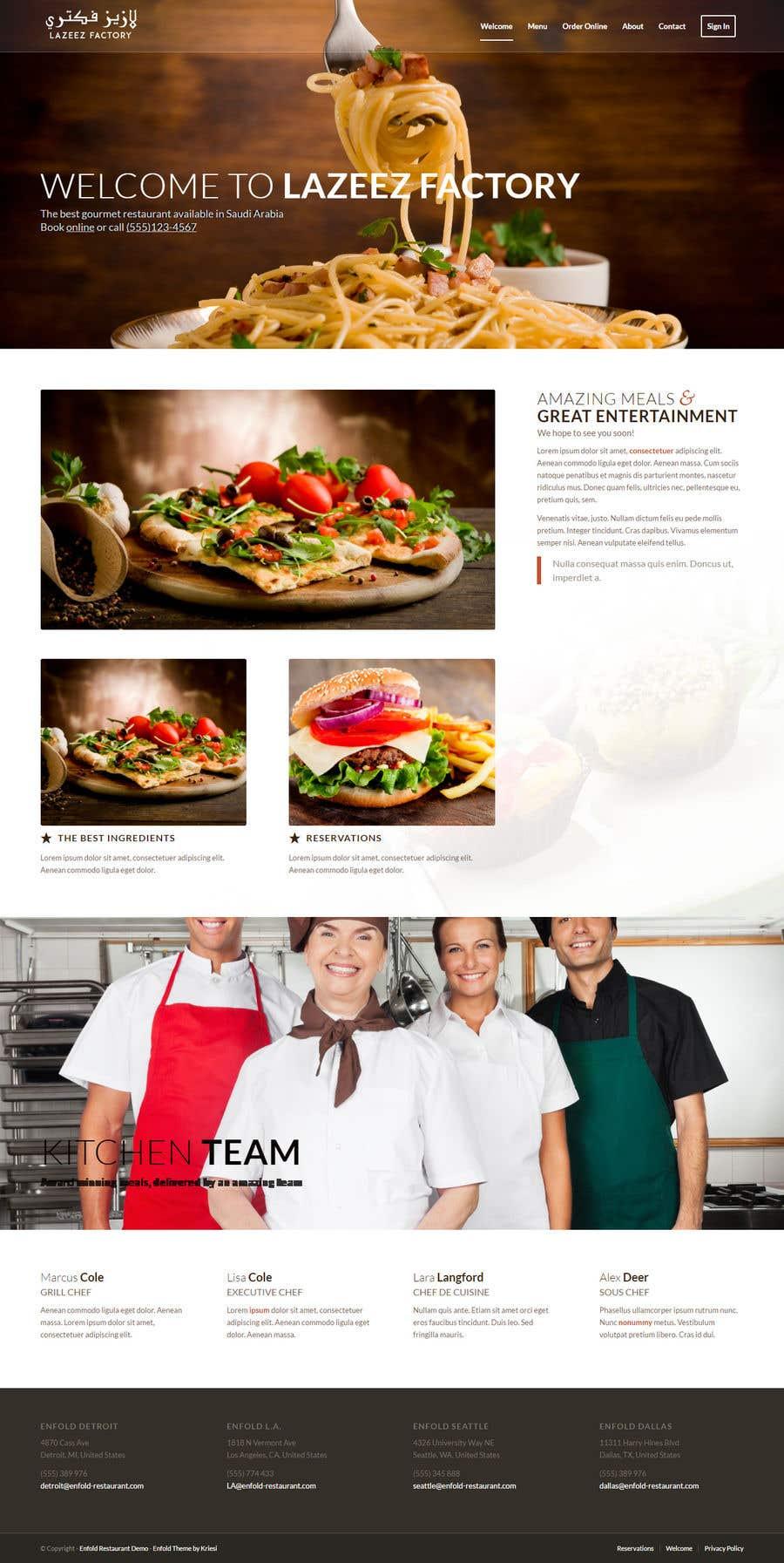 Konkurrenceindlæg #67 for Design A Website and Logo For Restaurant